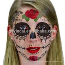 2017 Водонепроницаемый Многофункциональный лицо маска татуировки для Хэллоуина