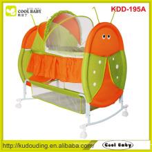 Factory NOUVEAU Baby Furniture Cute Insect Design berceau à bascule portatif portable pour bébé nouveau-né Butterfly Moustiquaire Swing Bed