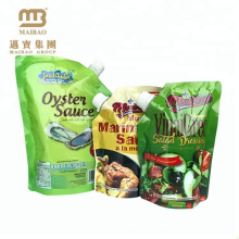 High-End Custom Made Plastic Aluminum Foil Stand up Cooking Oil Packaging Pouches with Spout