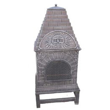 Cast Iron Chiminea (FSL039) , Metal Pizza Oven
