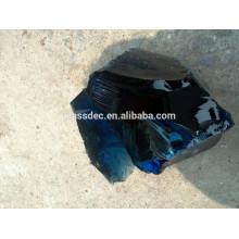 Escalão do azul de cobalto Rocha do vidro em Gabion