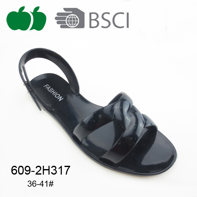 ladies flat pvc jelly sandal