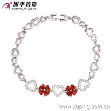 72803 moda elegante en forma de corazón CZ diamante pulsera de la joyería de imitación para las mujeres