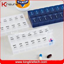Plastik-Pill-Box mit 14-Koffer (KL-9059)