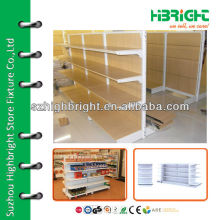 new style wooden gondola shelving for store