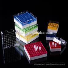 boîte cryogénique / congélateur utilisée dans un réservoir d'azote liquide