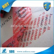 Hergestellt in China wasserdicht gedruckt offenen void Band Haustier benutzerdefinierte Sicherheit Band Kleber