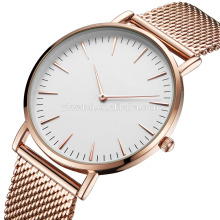 Popular Low-key Men's Quartz Wristwatch Minimalist Connotation Mesh Watch