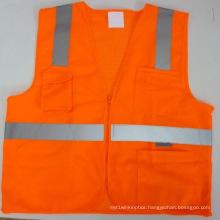 High-Visibility Safety Vest Reflective Vest 100% Polyester Safety Clothing Reflective Clothing