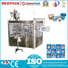 Машина для наполнения и запайки роторных пластиковых тройных чашек (RZ-3R)