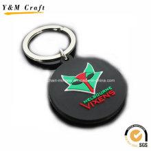 Chaveiro de borracha promocional de alta qualidade personalizado Ym1128