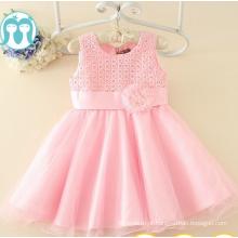 Rosa crianças vestidos de festa preço de atacado garantia de comércio de fábrica crianças vestidos atacadista roupas crianças festa coleção