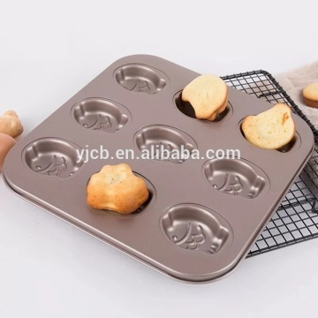 9 sztuk Madeleine Commercy Funny Cartoon Shaped Mold Cake