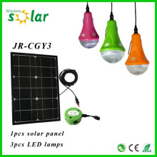 Nuevos productos solares CE Solar Iluminación Solar LED Bombilla luz interior noche solar iluminación portátil con cargador