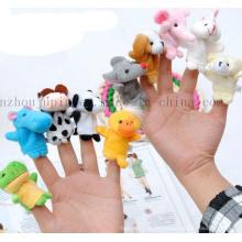 Benutzerdefinierte Kinder Kinder Tier Plüsch Hand Fingerpuppe Spielzeug