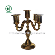 Five Posts Glass Candle Holder for Home Decoration (9*20.5*22)