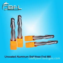 BFL 2 Flutes Uncoated Ball Nose Cutting Tools for Aluminum Alloy
