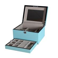 Luxury Tiffany Blue Jewelry Storage Box