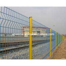 Clôture métallique en mousse métallisée galvanisée en poudre revêtue de PVC