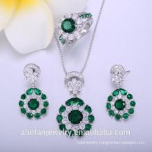 High end imitate Woman jewelry sets in Zirconia Brass Jewelry