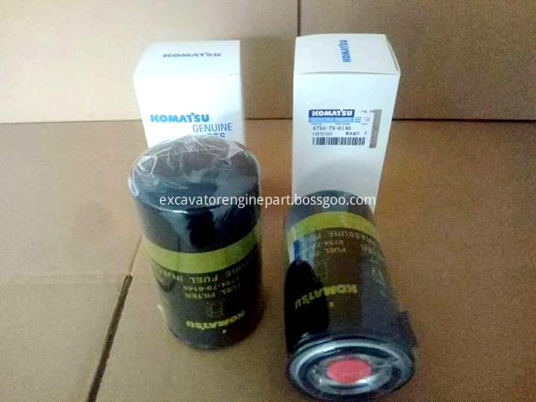 pare parts for excavator PC300-8 fuel filter cartridge 6754-79-6140