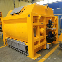 Double horizontal shaft forced mixer concrete mixer