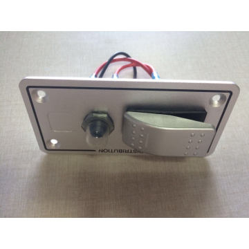 with Breaker Single Gang Aluminium Car Bus Marine Boat Bridge Rocker Switch Panel Control Switch
