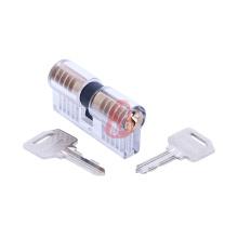 Transparente Ab Cutway Prática Cilindro Bloqueio com 5 Pinos