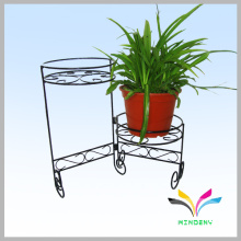 Garden Supply Metal Art Style Flooring Flower Display Shelf