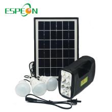Espeon Novo Modelo Portátil Poli Preto Painel Mini Casa Sistema De Energia Solar
