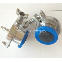 Válvula de retenção sanitária de aço inoxidável com mangueira