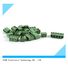 5mm Pitch PCB Mount Screw Terminal Block 8A 250V