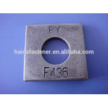 Square hardened beveled and round flat washers f436