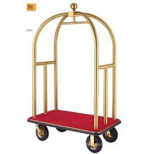 Luxury Brushed Brass Bellman Trolley (DF52)