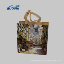 Wholesale recycled custom printing grocery shopping non woven bag