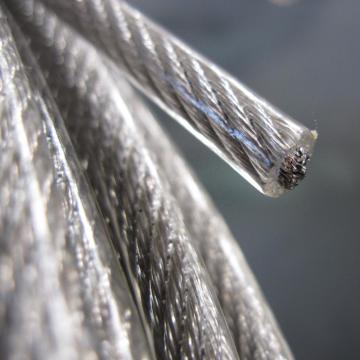 AISI304 Clear PVC Coated Stainless Steel Wire Rope