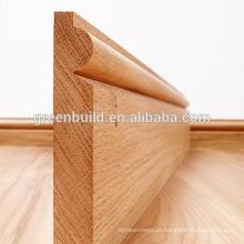 Rodapé de madeira para pisos de madeira maciça