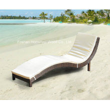 S Shape Wicker Outdoor Day Bed Sun Lounge avec coussin