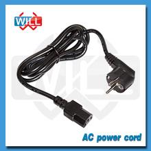 Factory CE ROHS VDE eu 3-prong ac power cord with IEC plug