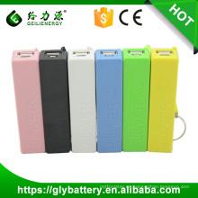 GLE oem azul perfume banco de la energía móvil mini banco del poder 2600 mah portátil llavero banco de la energía