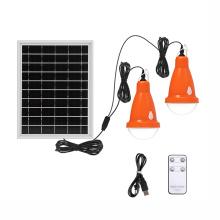 Luces de bombilla solares portátiles con control remoto