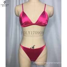 Custom Encaje Sexy Lingerie Mesh Plu Size Triangle Wholesale Woman Bra Women Satin High Quality Bralette