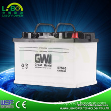 12V75ah Dry Charged Type World Best Car Battery (57540)