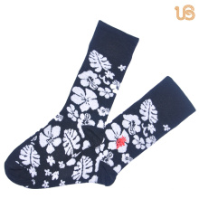Men′s Embroider Cotton Sock