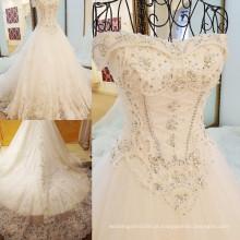 RP00897 Comprimento pesado de cordão longo vestido vitoriano de estilo japonês vestidos de noiva barco padrão de vestido de noiva