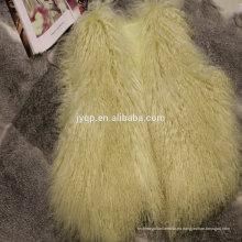 Chaleco de lana rizado de la piel de cordero del tigre mongol real al por mayor