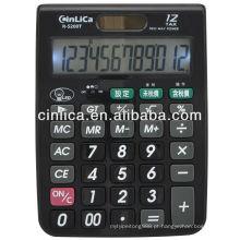 12 dígitos grande tamanho LED retroiluminação desktop calculadora de impostos calculadora de desktop R-5200T