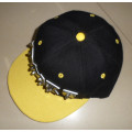 Handmade letters rivet spike studed fashion punk hiphop snapback flat peak cap