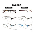 high quality metal optical frames laminated acetate temple glasses ready eyewear stock eyeglasses