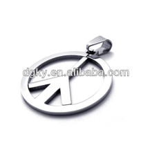 Fashion Jewelry Stainless Steel Peace Charms Pendants